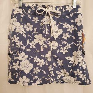 Beach Ray Blue/Floral Skirt Velcro Close NWT Sz 7
